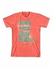 Tee Shirt-War Room/ Ask God- Coral Silk- Small