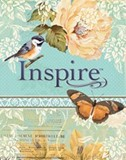 Inspire Bible-Silk Vintage Blue/Cream Leatherlike